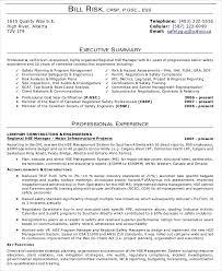 executive summary resume exles executive summary exle for resume exles of resumes