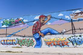 the chicano artists transcending the us mexico border vice borderland jam mural by myker yrrobal el paso texas