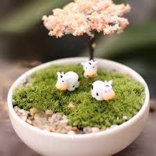 cute cows lovely animals ornaments fairy garden miniatures