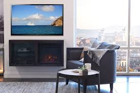 floating hanging fireplace tv stand eco geo espresso woodwaves