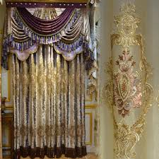 Definition Of Valance European Victorian Style Gold Velvet Vintage Curtain Without