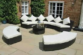 Grey Rattan Outdoor Furniture by Amber Circular Sofa Set Oakita