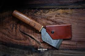Custom Japanese Kitchen Knives by Custom Japanese Leather Knife Kawatati Built With Handtools