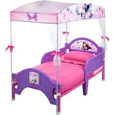 Toddler Bed With Canopy Disney Minnie Mouse Toddler Bed For With Canopy Pink And