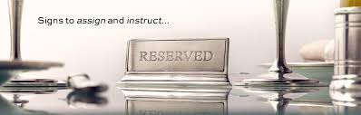 metal reserved table signs place card holders table signs cosi tabellini