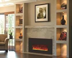 built in electric fireplace inserts luxury charming home office in