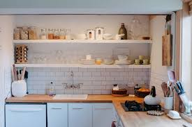 Small Kitchen Ideas Backsplash Shelves creative small kitchen design wall mount faucet double burner