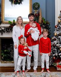christmas pajamas family matching kid mother daughter father son