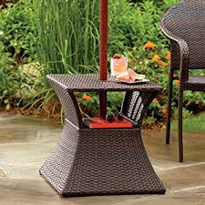 umbrella stand side table stratford umbrella stand side table with shelf wicker and steel