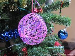 yarn or string ball christmas ornaments
