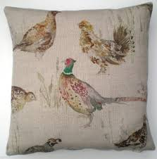 cushion cover game bird pheasant grouse plain reverse 12