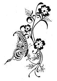 butterfly and flower designs butterfly and flower drawing designs
