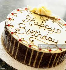 chocolate happy birthday cake stock photo getty images