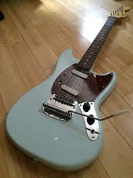 squire mustang squier by fender vintage modified mustang 2017 sonic blue w reverb
