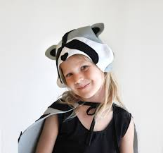 Girls Raccoon Halloween Costume Raccoon Pattern Diy Costume Mask Sewing Instant Download