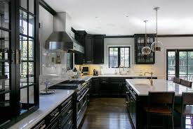 black kitchen cabinets with marble countertops black kitchen cabinets contemporary kitchen abby wolf