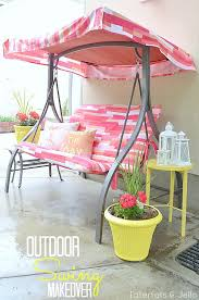 Swings For Patios With Canopy Outdoor Swing Makeover Jello Swings And Patios
