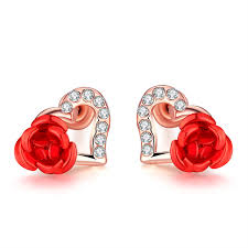 flower earrings aliexpress buy sweet heart stud earrings
