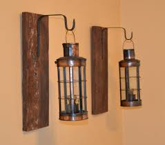 Rustic Wall Sconces Pair Rustic Wall Sconce Barn Wood Decor Reclaimed Wood Vintage