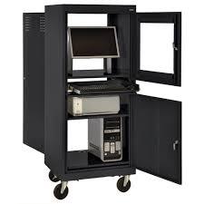 Mobile Computer Desks Workstations Amazon Com Sandusky Jg2663 09 Blk Black Steel Mobile Computer