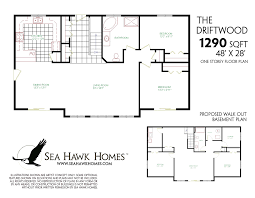 floor plans for homes one story nice looking single story with basement house plans decor amazing