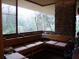 a seating area from flw u0027s falling water kitchen pinterest