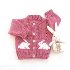 baby cardigan with bunnies baby knits baby shower