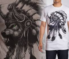 tees and wolf headdress