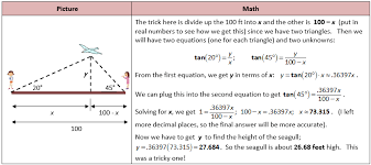 trig word problems worksheet worksheets