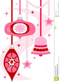 retro christmas ornaments eps stock vector image 15612180