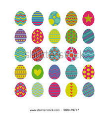 decorative easter eggs set vector easter eggs decorated easter stock vector 588479747