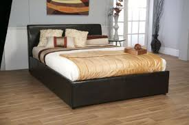 limelight galaxy brown 6ft super kingsize leather ottoman bed