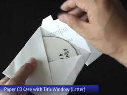 Origami With Letter Size Paper - easy paper cd with title window letter size diy