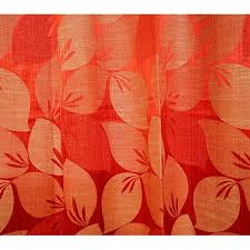 Rust Color Curtains Buy Window Curtain Rust Color Leaf Pattern Best