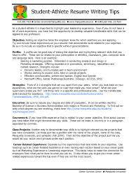 Resume Writing Tips Objective athletic resume template athletic resume template student athlete