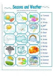 worksheet seasons and weather activity