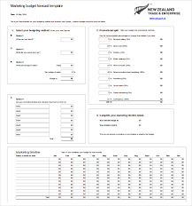 marketing budget template 3 free excel word documents download
