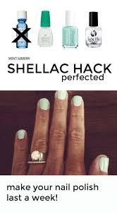 shellac hack perfected mint arrow