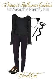 cat costume diy black cat costume for women using clothes from your closet