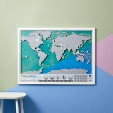 Oceans Map Scratch Map Oceans Luckies