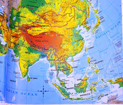 Physical Map Of East Asia by Physical And Political Map Of Asia You Can See A Map Of Many