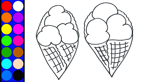 how to draw ice cream cone waffle coloring page coloring