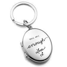 custom engraved lockets handwriting gifts personalized locket key chain inset 2 memories