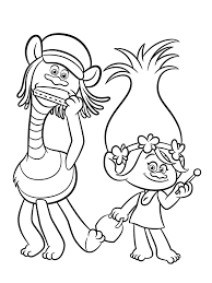 trolls coloring pages download print free birthday