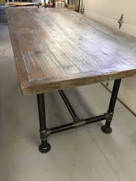 100 Diy Pipe Desk Plans Pipe Table Ideas And Inspiration by Reclaimed Wood Table 30 X 70 With 3 4 Pipe Base Counter Height
