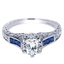carved engagement rings 18k white gold carved sapphire engagement ring wedding day diamonds