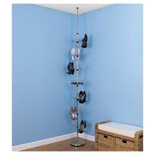 household essentials floor to ceiling revolving shoe tree 36