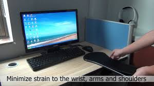 ergonomic computer armrest adjustable for desk and chair youtube