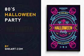 vintage halloween party poster flyer templates creative market