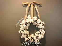mini cotton wreath cotton wreath farmhouse decor cotton